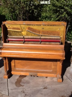 Early 20th century upright piano