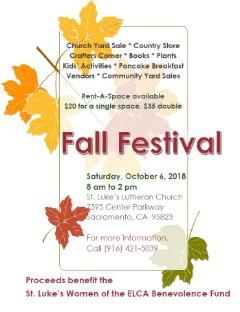 St. Luke's Fall Festival & Family Fun Day
