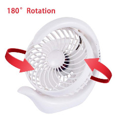 White Desk Fan