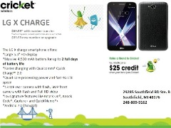 LG X CHARGE IS ON SALE TODAY FOR ONLY $69 WHEN U SWITCH OVER TO CRICKET WIRELESS SOUTHFIELD!!!