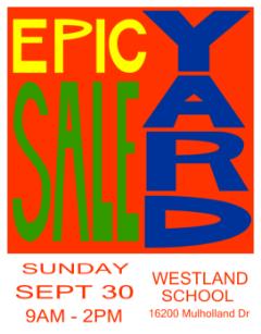 Westland School Yard Sale - 100+ Families