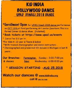 Kid INDIA Bollywood Dance UPAD DIWALI 2018 Dance.