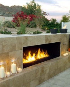 Fireplace in Arizona