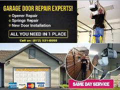 #1 Garage Door Repair, Spring Repair & New Installation $25.95   Allen Dallas, 75071 TX