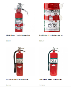 Halon Fire Extinguishers | Fire And Safety Equipment