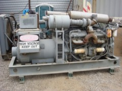 RUDOX GENERATOR SET 400KW 277/480 VOLTS, TWIN DETROIT, V12