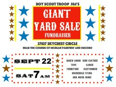 HUGE!!!!  20+ FAMILY YARD SALE!!