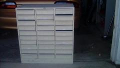 Letter size metal storage cabinet