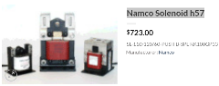 Namco Solenoid h57 | Namco Solenoid g54 | Namco Solenoid