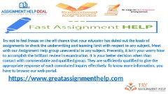 Get Assignment Help from to get fine grade