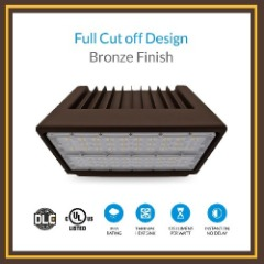 Waterproof LED Wall Pack with Bronze Finish Design