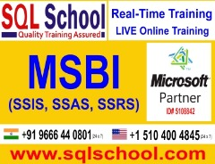 MSBI Practical and Real Time Online Training @ SQL School