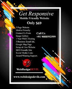 Get Responsive Mobile Friendly 5 Page Website USD69