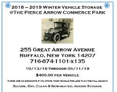 Winter Vehicle Storage 10/13/18 - 5/11/19