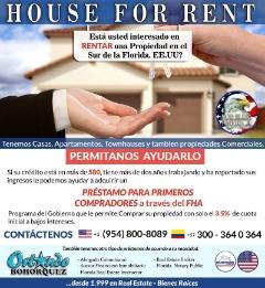 HOUSE FOR RENT en FLORIDA-USA