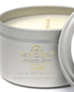 Majestic Glow Faith Candle