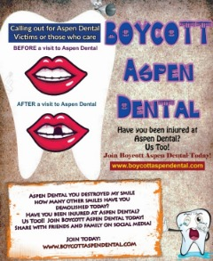 Calling out for Aspen Dental Victims or those who care