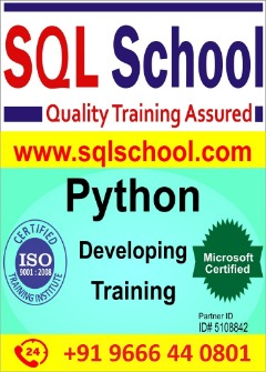 Real Time Project Oriented Online Training on Python at SQL School