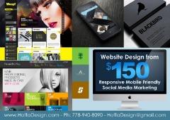 $150 Website Design Package APP Logo Graphic Wordpress Web designer