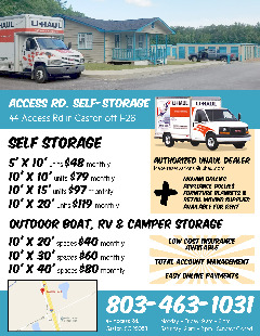 Access Rd. Self-Storage Move In Special