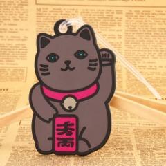 Custom PVC Patches | Lucky Cat PVC Luggage Tag| GS-JJ.com ™ | Cheap