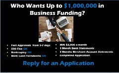 GET FAST UNSECURED BUSINESS FUNDING UP TO $1 MILLION