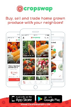 Cropswap new app. buy, sell and trade locally grown food