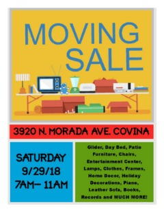 ***Moving Sale***