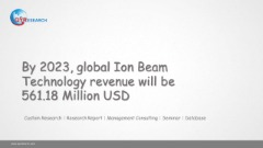 By 2023, global Ion Beam Technology revenue will be 561.18 Million USD