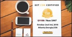 Certified Scrum Master (CSM®) | Atlanta,Georgia,USA