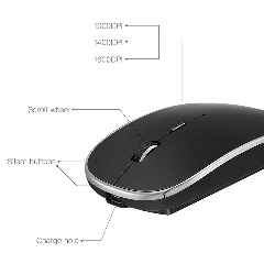 DEGOL Ultrathin Wireless Bluetooth Version 3.0 Mouse with 1600 DPI