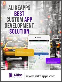 Custom taxi booking app development