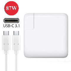 87W Apple Macbook USB-C Power Adapter Charger with 3.1 Fast Charge