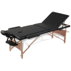 Foldable Wooden Frame Massage Table - Black - BRAND NEW w/ FREE SHIPPING