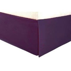Unique Design Purple Bed Skirt - AanyaLinen