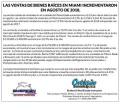 VENTA DE BIENES RAÍCES EN MIAMI, FLORIDA