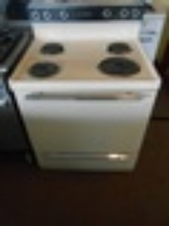 HOTPOINT 30 INCH FREE STANDING ELECTRIC RANGE MANUAL CLEAN COIL BURNERS