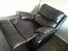 Super Comfortable Brown Leather Recliner!!