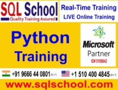 Python Practical and Real Time Online Training @ SQL School Training Institute