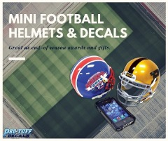 Mini Football Helmets & Decals