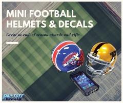 Mini Football Helmets & Decals
