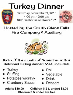 Turkey Dinner Fundraiser