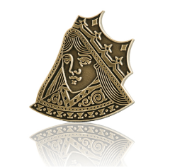 Playing Cards Queen Lapel Pins