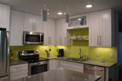 Style Kitchen Design with White Shaker Cabinets