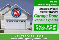 Top Most Garage Door Repair Service $25.95 | Allen Dallas, 75071 TX