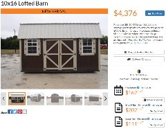 SHED FOR SALE ****NO CREDIT CHECK, 90 DAYS SAME AS CASH*****