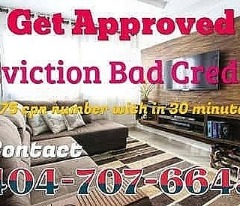 404-707-6645 $75 CPN NUMBERS BAD CREDIT EVICTION GET APPROVED