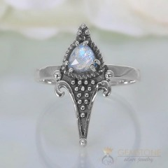Moonstone Ring-Wild Edges