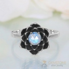 Moonstone Ring-Harbored Gunsmoke