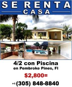 SE RENTA CASA 4/2 con Piscina